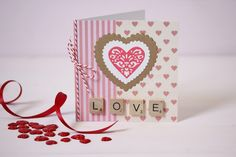 How to Make a Die Cut Love Card #valentines #love #diecutting #card #papercraft