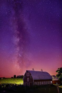 Stars and Milky Way above an Eau Claire area barn