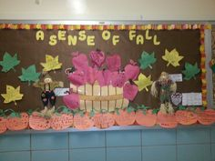 My fall bulletin board. The students wrote an I am poem through the point of view from a pumpkin, apple, leaf or scarecrow using their five senses.