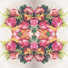 Instagram love + flower art from @laurametzlerphoto #sendhappy
