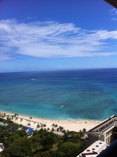 View from the 30th floor of Hawaiian Hilton Village