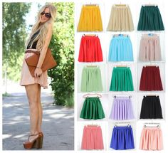 2015 Summer Brand New High Waist Double Layer Chiffon Skirt Tutu Skirt Pleated Mini Skirt Candy Color Plus Size Women Clothing Online with $22.63/Piece on Blackfriday's Store   DHgate.com