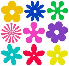Fieltrolocuras: Plantillas de flores para hacer en fieltro.