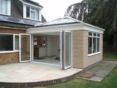 New Conservatory Roof Bungalow Extensions, Garden Room Extensions, House Extensions, Orangery Extension Kitchen, Conservatory Extension, Conservatory Dining Room, Small Conservatory, House Extension Design, House Design