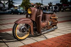 Custom Moped, Custom Bikes, Honda Cub, Motorized Bicycle, Motor Scooters, Bobber Motorcycle, Hot Bikes, Tricycle, Cars And Motorcycles