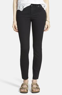 Madewell 'Skinny Skinny' High Rise Jeans (Black Frost)