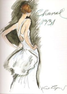 Image detail for -Coco Chanel: the legend and the life chanel sketch by karl lagerfeld ...