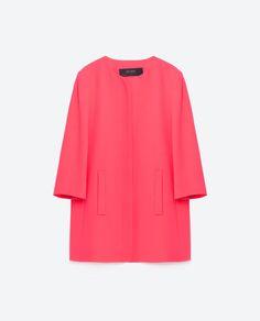 Image 8 of CREPE FROCK COAT from Zara