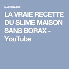 LA VRAIE RECETTE DU SLIME MAISON SANS BORAX - YouTube