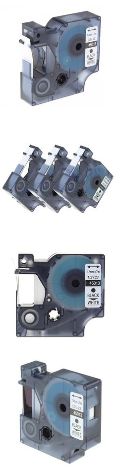 3Pcs compatible dymo label 45013 12mm black on white label tape for dymo tape d1 label printer