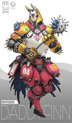 ArtStation - all team, mole wang Fantasy Character Design, Character Concept, Character Inspiration, Character Art, Robot Design, Design Art, Arte Robot, Cool Robots, Robot Concept Art