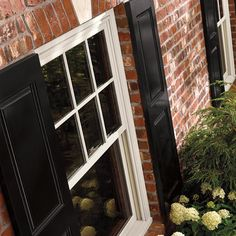 Exterior Close-up of Insert Double Hung Windows