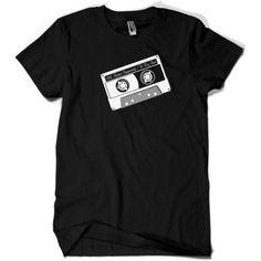 80s MIXTAPE Tape T-Shirt schwarz Gr. M