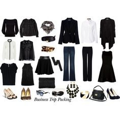 Business Trip Packing by rhondamurphy on Polyvore featuring Ted Baker, MANGO, Vince Camuto, Burberry, Vince, H&M, Ralph Lauren Black Label, VAN LAACK, Theory and Lanvin
