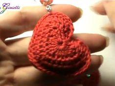 Come fare orecchini a forma di cuore a uncinetto - Video Tutorial Italiano