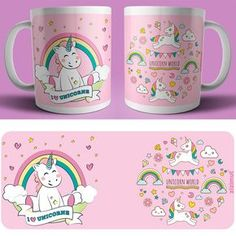 caneca I love unicorns Mug Template, Felt Doll Patterns, Cute Food Drawings, Sublimation Mugs, Unicorn Drawing, Background Images For Editing, Concrete Crafts, Mug Printing, Gold Print