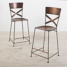 Set of 2 Jabalpur Copper Counter Stool (India) - Overstock™ Shopping - Top Rated Bar Stools
