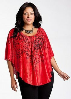 plus size trendy clothes black and red