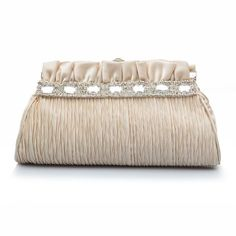 Dii's Women's Crystal Clutch Bag Evening Bags Beige  - Click image twice for more info - See a larger selection of Bridal Clutches at  http://zweddingsupply.com/product-category/bridal-clutches/  - woman, woman fashion, wedding, wedding fashion, wedding style, wedding clutch bag, wedding evening bag