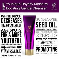 Younique Royalty Moisture Boosting Gentle Cleanser  Younique/unique/makeup/cleanser/beauty/products/presenter/seed oil/youthful/age spots/corrector/protection/hydrate/promoting/nourish