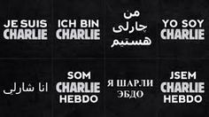 """je suis charlie -""""I am Charlie"""" for the name """"Charlie Hebdo"""", name of the french magazine where the most beloved satirical journalists of the last 50 years have been killed by islamisc terrorists in Paris.  1"""