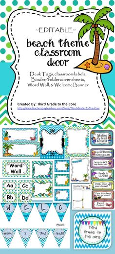 Brighten up your class with these colorful decorations! Includes behavior clip chart and weekly newsletter. All labels and binder covers are editable.