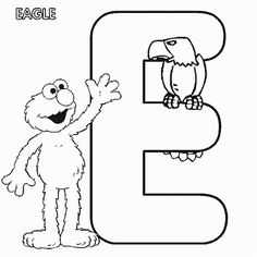 38 Best Mewarnai Huruf Images Sesame Streets Alphabet Letters To