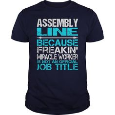 Awesome Tee For Assembly Line T-Shirts, Hoodies. VIEW DETAIL ==► https://www.sunfrog.com/LifeStyle/Awesome-Tee-For-Assembly-Line-114660213-Navy-Blue-Guys.html?id=41382