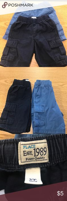 Old Navy shorts FREE WITH A PURCHASE Size 3t shorts by The place in good condition navy Blue & light blue both bundled (sold together) for $5 great deal Children's Place Bottoms Shorts