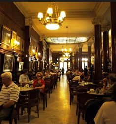 Cafe Tortoni, Buenos Aires. Founded in 1858. Live Tango