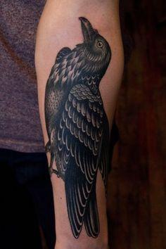 black crow tattoo.