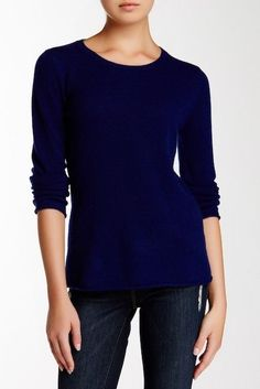 Philosophy Cashmere Long Sleeve Cashmere Pullover Sweater