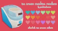 Sweet Tooth Ice cream maker recolors at Pixelsimdreams » Sims 4 Updates