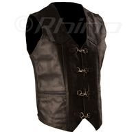 Leather Vest with Metal Clasps