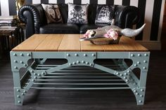 Bring an authentic industrial steampunk look for your living room, bar or reception area with the Harbor Bridge Coffee Table. Inspired by early century construction methods, in particular the portal bracing to the Sydney Harbor Bridge and others -