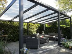The pergola you choose will probably set the tone for your outdoor living space, so you will want to choose a pergola that matches your personal style as closely as possible. The style and design of your PerGola are based on personal Garden Spaces, Pergola With Roof, Modern Garden, Building A Pergola, Picture Design, Roof Design, Modern, Garden Design