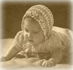 DAINTY Baby Layette Set Crochet Pattern  by touchofnostalgia7