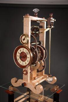 M-11 Galileo Clock Wall Clock Kits, Clock Art, Diy Clock, Clock Decor, Wooden Clock Plans, Wooden Gear Clock, Wooden Gears, Old Clocks, Antique Clocks