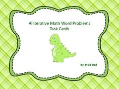Math Games For Kids, Fun Math Activities, Teaching Resources, Silly Sentences, Common Core Ela, Math Task Cards, Math Word Problems, Math Words, Matching Cards