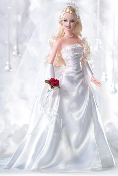 David's Bridal Eternal Barbie 2005 Silver Label
