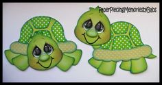 Turtles created by PAPER PIECING MEMORIES BY BABS using patterns from Cuddly Cute Designs