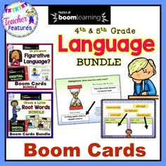 Teach Latin Roots & Greek Root Word and affixes meanings & Figurative Language with distance learning digital Boom Cards for 4th, 5th & 6th grade. Increased vocabulary and improved reading comprehension! #DistanceLearningTpT ★ Greek & Latin Root WordsGreek and Latin roots are the bui...