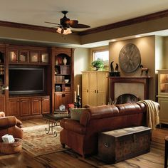 Traditional Living Room Brown Leather Sofa Design, Pictures, Remodel, Decor and Ideas