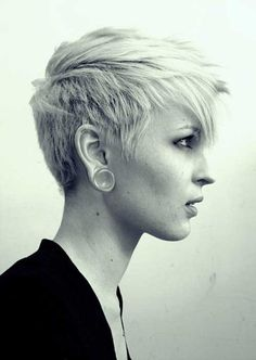 Short cropped pixie hairstyle