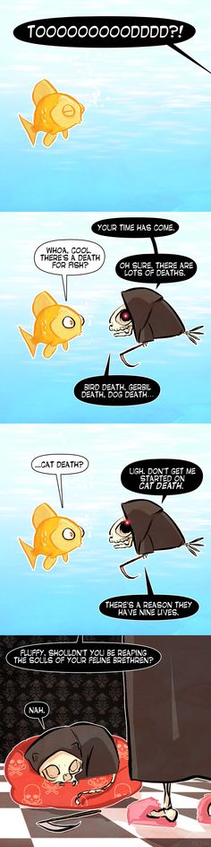 Death & Fishes -- A Frogman Comic