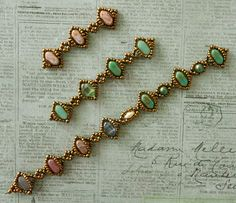 Linda's Crafty Inspirations: Beading News: Silky Cameo Bracelet preview and more. This website has lots of patterns.