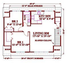 floorplans with apartment above garage - Google Search