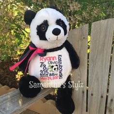 Check out our Plush Toys Adoption Gifts, Panda Gifts, Birth Announcement Girl, Small Blankets, Baby Grows, New Baby Gifts, Burp Cloths, Panda Bear, Small Gifts