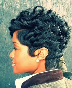 Amazing short black hairstyles - All For Hairstyles Love Hair, Great Hair, Gorgeous Hair, Short Sassy Hair, Short Hair Cuts, Pixie Cuts, Short Pixie, Short Black Hairstyles, Pretty Hairstyles
