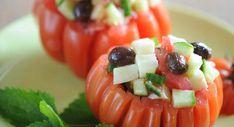 Tomates farcies à la grecqueVoir la recette des Tomates farcies à la grecque >>
